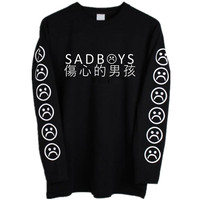 Yung Lean Sad Boys Hoodie Men Cotton Yung Lean Unknown Death Sweatshirt Casual Pullover Fleece Hoodies