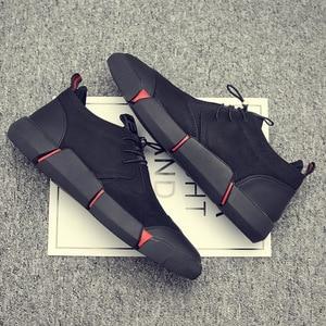 Image 2 - Zyyzym靴男性黒春の秋のメンズカジュアルシューズ革通気性ファッション英国男性靴zapatosデhombre