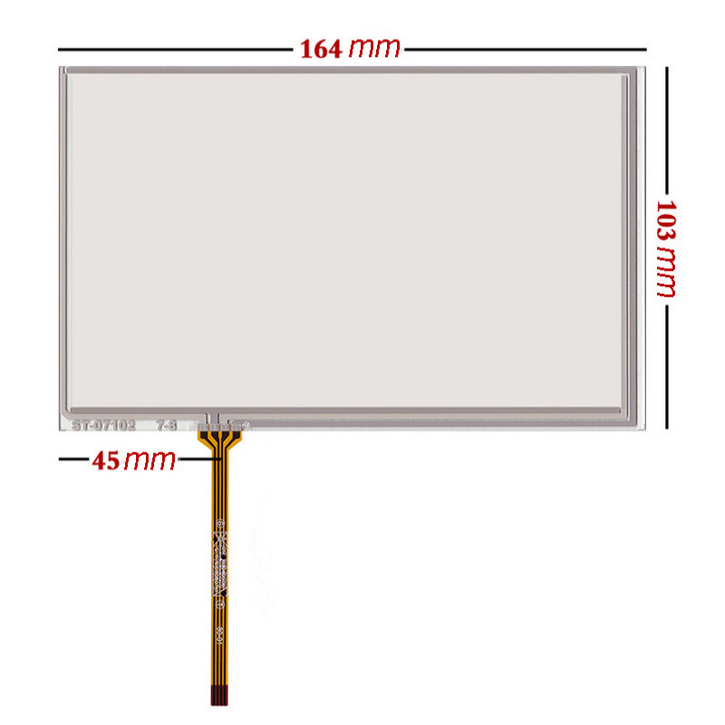 New For 7 Inch 164*103mm 4-Wires Glass Monitor <font><b>AT070TN83</b></font> V.1 Digitizer Resistive <font><b>Touch</b></font> <font><b>Screen</b></font> <font><b>Panel</b></font> Sensor Replacement image