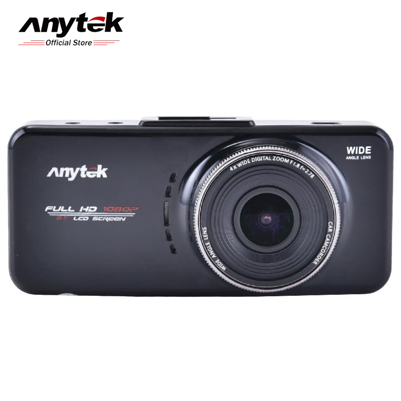 Anytek Car DVR Camera 2.7 Full HD 1080P Video Recorder Registrator G-Sensor Night Vision Car Camcorder DVRs Dash Cam 4.0 full hd 1080p car dvr video camera on cam dash camera car camcorder 2 4inch g sensor dash cam recorder night vision