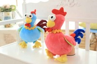 40Cm Big Size Cute Lovers Chicken Plush Toys Chinese Zodiac Cock Cloth Doll Animals Stuffed Plush