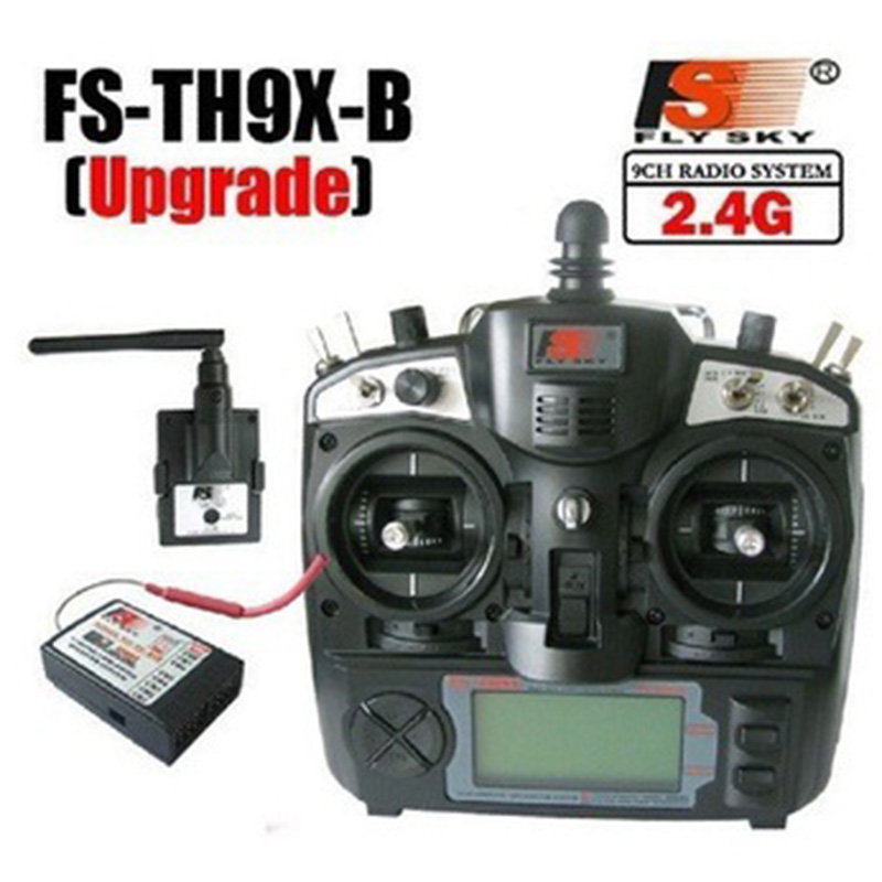FlySky FS-TH9X-B 2.4G 9CH System (TX + RX) Radio controller transmitter for helicopter airplane quadcopter with some gift flysky 2 4g 6ch channel fs t6 transmitter receiver radio system remote controller mode1 2 lcd w rx rc helicopter multirotor
