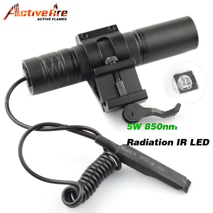Camping Light Hunting Lamp IR LED Night Vision flashlight Torch For Hunting IR Lamp 5W Torch 850nm Zoom Infrared Radiation 100w square base infrared ir 850nm smd led light lamp parts 17v 3500ma