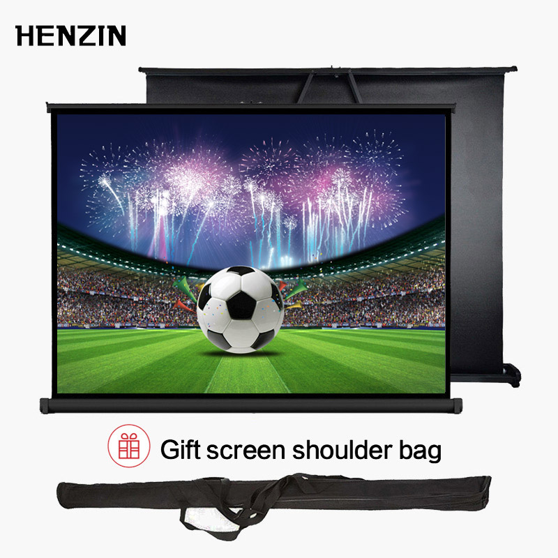 Mini Portable 40 inch Tabletop Projector Screen 4:3 HD Matte White Foldable Table Projection Screen For Office Business Training caiwei mini light tabletop screen hd matte white portable projector sccreen for business meeting office outdoor indoor movies