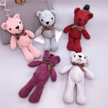 Handmade Creative Pineapple Bear Keychain Girl Keyring Hand Strap Doll Bag Pendant Cute Cartoon For Men Or Women