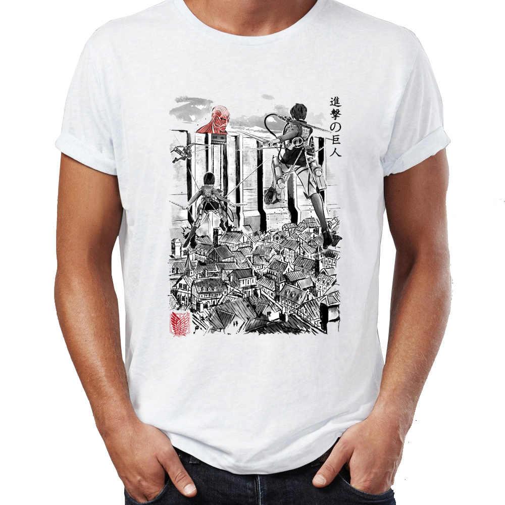 Yaz erkek tişört Titan Giants içinde duvar harika sanat çizim tişört Hip Hop Tees Tops Harajuku Streetwear
