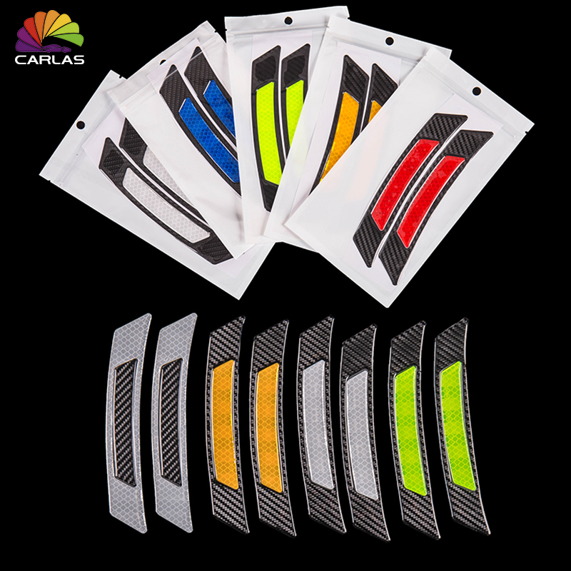Image 2 - 2 Pieces/Pack Car Door Bumper Sticker Warning Safety Mark Anti Collision Auto Side Anti scratch Strip Car Reflective Strip-in Car Stickers from Automobiles & Motorcycles
