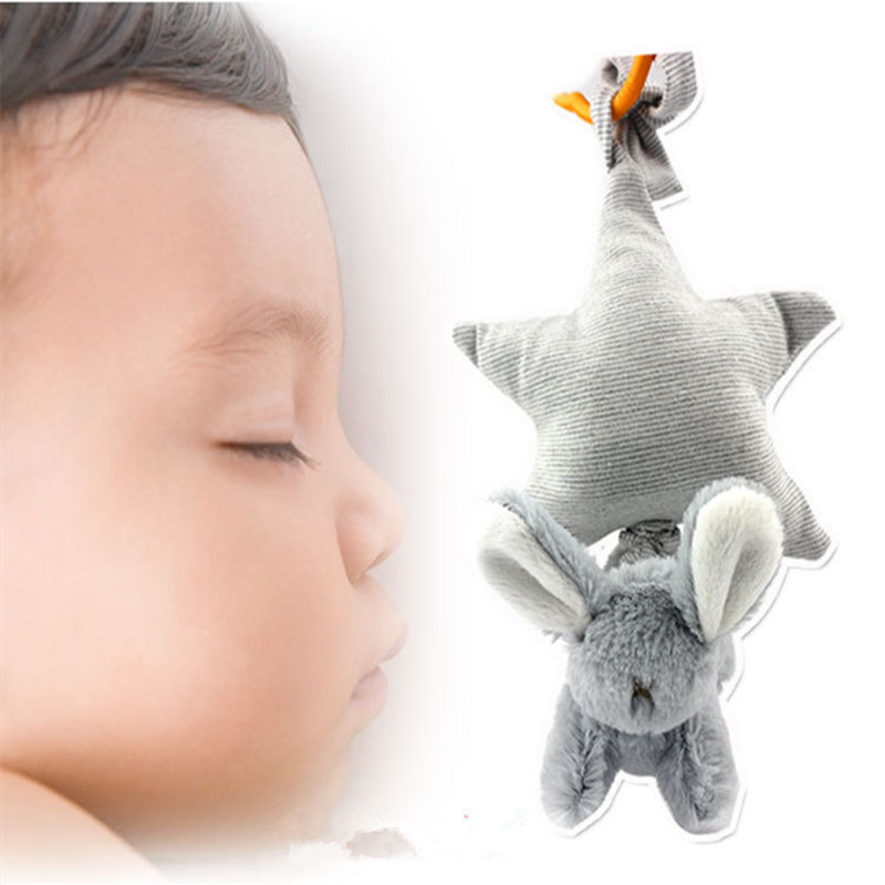 Baby Rattles Mobiles Toys Cute Plush Stroller Pram Crib Bed Hanging Toys Star Animal Rabbit Hand Bells Toy For Babies 0 12 Month
