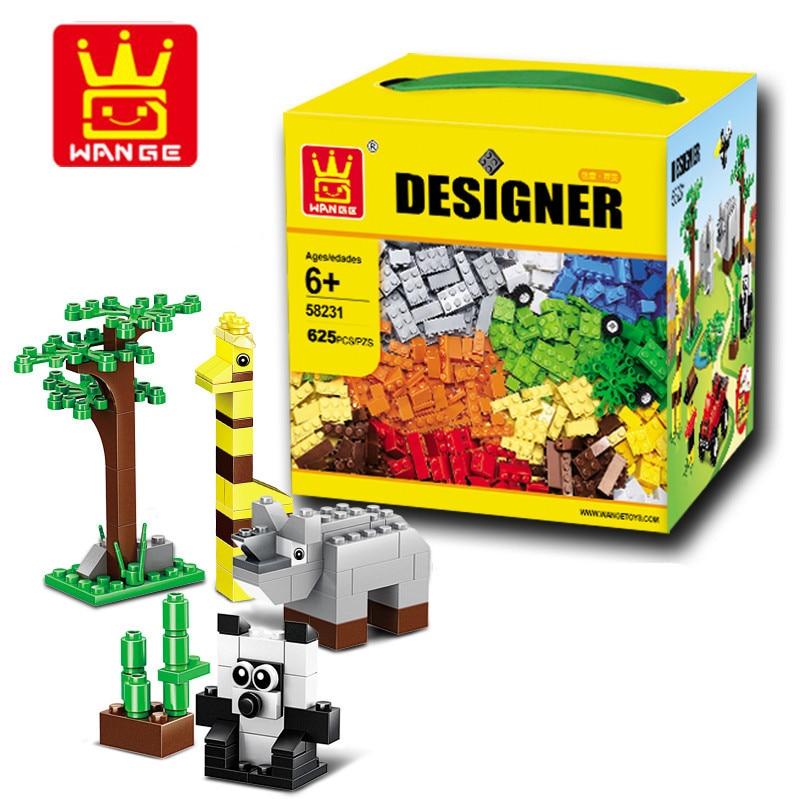 Wange 58231 Classic DIY 625 Pcs Classic Creative DIY Building Blocks Bricks Game Educational Toys for children