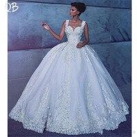 Роскошная свадебная одежда 2019 Новая мода бальное платье Милая Кружева Свадебный букет мусульманских красивые свадебные платья индивидуал