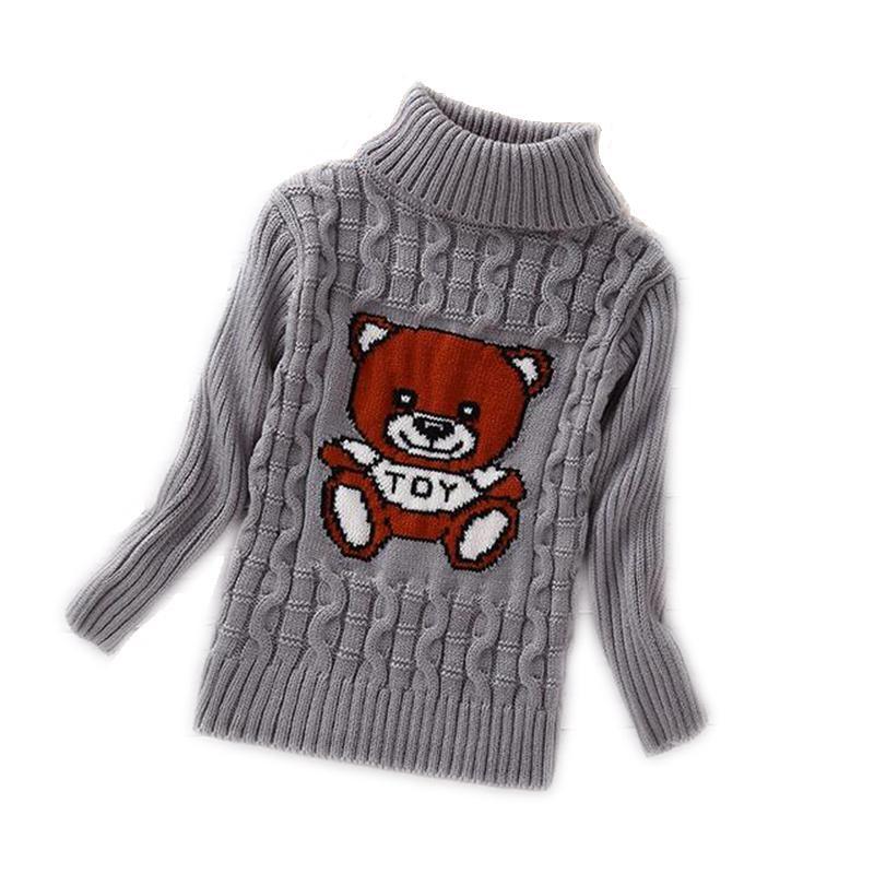 Boys Girls Turtleneck Solid Baby Kids Sweaters Soft Warm Sueter Infantil Autumn Winter Children's Sweater Coats