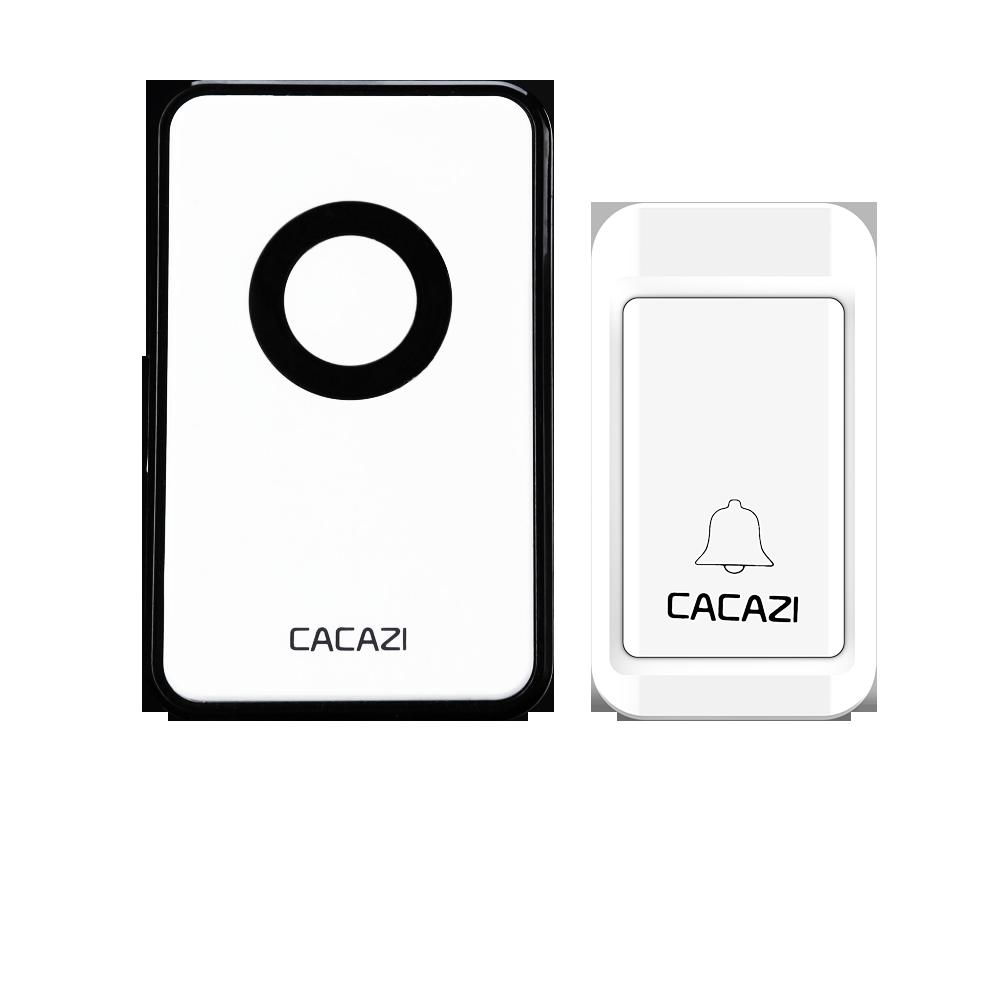 cacazi1transmitter+1 receiver wireless no battery door