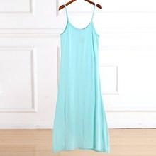Comfortable Cotton Night Dress Sexy Spaghetti Strap Summer Nightgown Sleeveless Women Sleepwear Long Nightdress Nightshirt