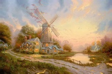 ФОТО the wind of the spirit thomas kinkade hd canvas print living room bedroom wall pictures art painting home decoration no frame
