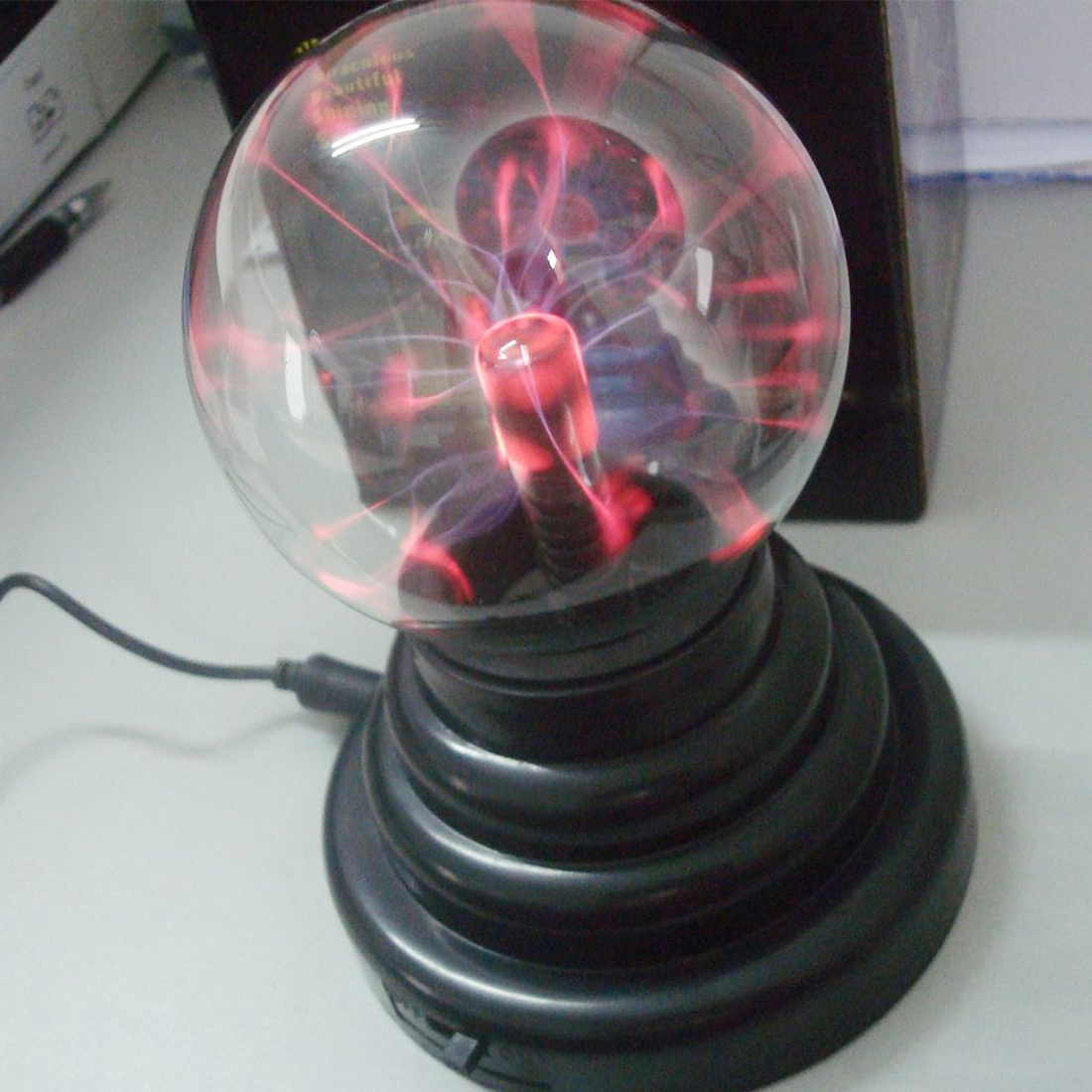 Lava Lamp Box Lightning Lamp Magic Plasma Ball Retro Light 3 Inch Kids Christmas Party Cristal Gift Room Decoration Light