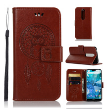OWL Flip Leather Wallet Case For Nokia 7.1 7 6.1 Plus 8.1 5.