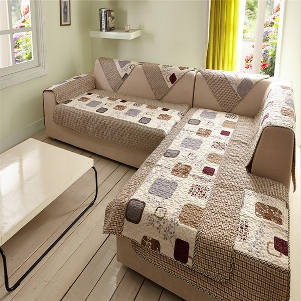 SunnyRain 1 Piece Sectional Sofa Towel Polyester Sofa Cover For