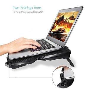Image 4 - Cooling Pad für 15,6 17 Zoll Laptops mit Vier 120mm Lüfter auf 1200 RPM, schwarz Ergonomische Stand Verhindern Laptop Überhitzung
