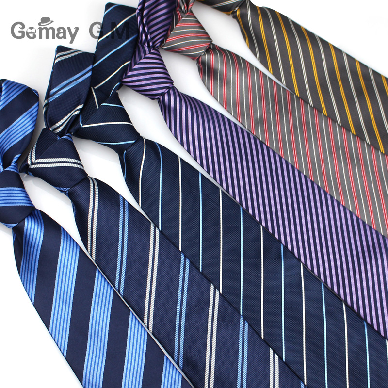 Classic Mens Ties New Design Striped Neckties For Men Jacquard Woven Business Neck Tie Formal Wedding Party 8cm Width Gravatas