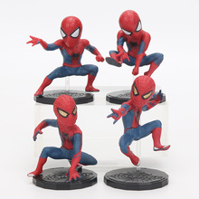 Marvel Spiderman Figure Set Superhero PVC 8cm