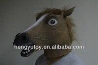 2013 de hoogste selling volwassen grootte realistische jurk latex mooi paard mask diy chrismas gift