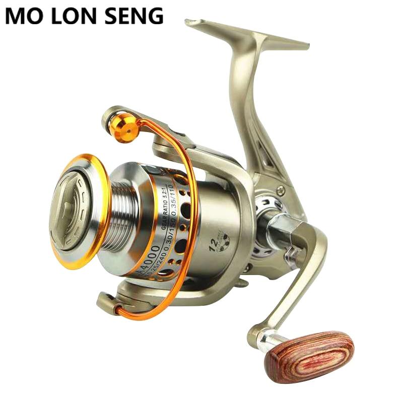 MOLONSENG Spinning Reel Fishing Gear Metal Speed Ratio 5 5 1 12BB 2000 7000 Lake Sea Carp Fishing Reel Spinning Reels Wheel in Fishing Reels from Sports Entertainment