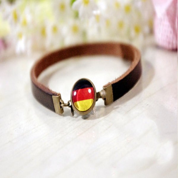 Handmade european cup german flag souvenir boys bracelet