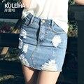 2016 spring&summer  Self-cultivation Half-body Skirt Woman Korean Sexy Package Cowboy Skirt  3383