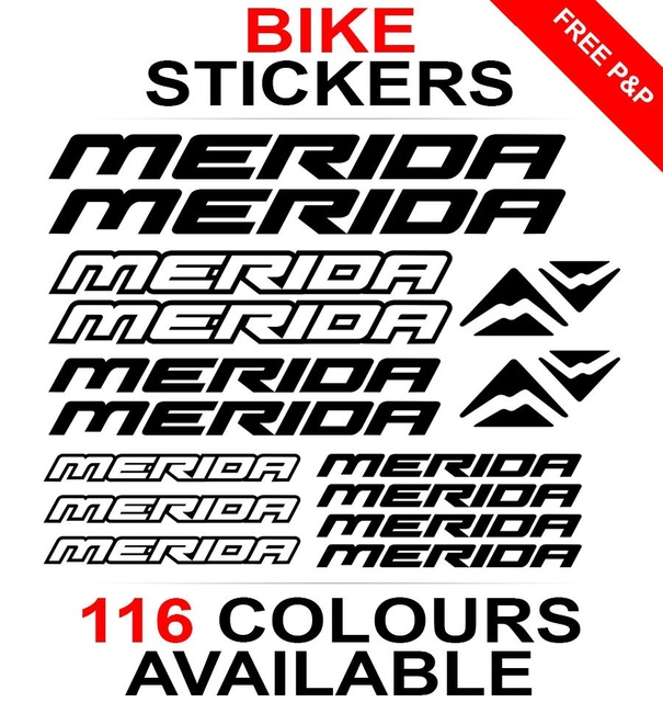 Car styling for 1set merida decals stickers sheet cycling mtb bmx road