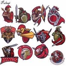 Пулаки Спартак спартако Moives железные нашивки вышитые Швейные Аппликации для одежды Спартанские 300 воины значки H