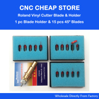 15Pcs 45 Degree Roland Vinyl Cutting Plotter Blade 1 Pc New Golden Roland Cutting Plotter Blade