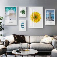 Gohipang Modern Fashion Landscape Sunflower Wall Art Prints Canvas Paintings Nordic Poster Pictures For Living Room Home Decor