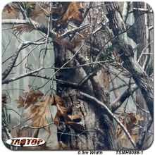 TSMH8086 1 10m*0.5m  Top Sell Pattern Camo Real Tree Leaves Hydro Graphic Water Transfer Printing Film