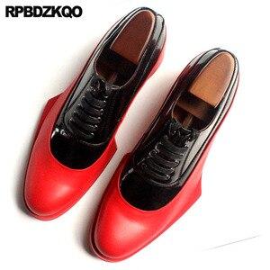 Image 4 - Włochy włoski prawdziwej skóry Runway mężczyźni czarno białe buty sukienka wysokiej jakości skóra bydlęca marki oksfordzie Prom duży rozmiar europejski