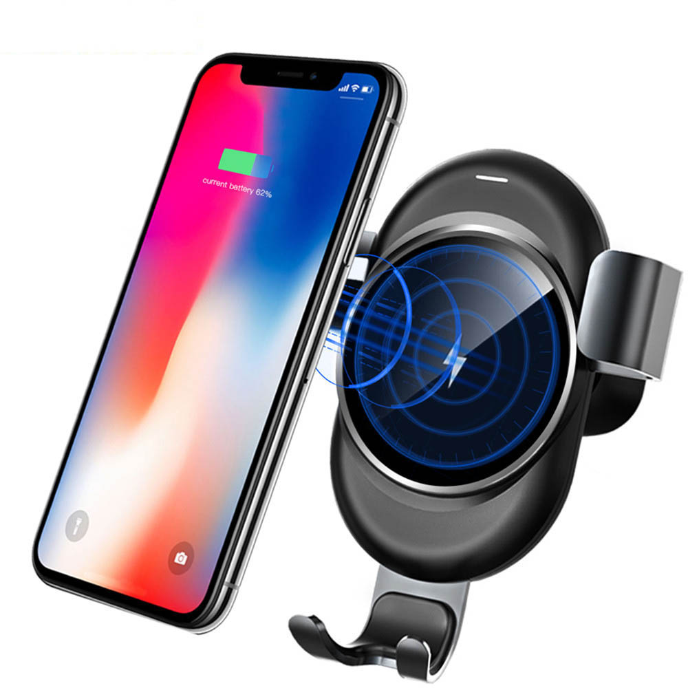 car wireless charging for Samsung galaxy S9 S8 iPhone X 8 plus bracket car phone holder stand Mobile suporte para celular carro