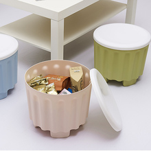 Multi-purpose Stool Organizer with Removable Lid Stackable Stool Storing Stool Chair with Storage Function