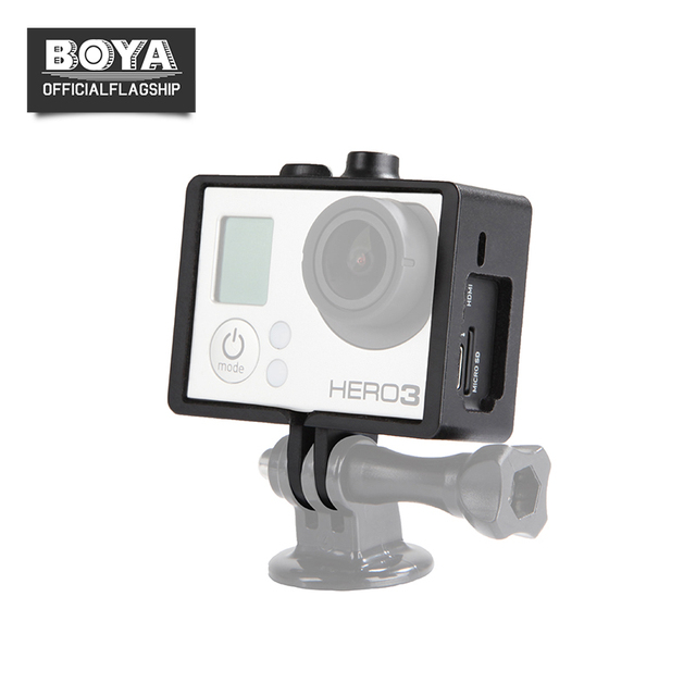 BOYA BY C100 Border Frame Mount Protective Housing Case Metal Clamp ...
