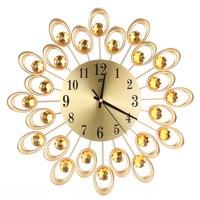 Radial Flower Big 3D Iron Decorative Wall Clock Retro Design The Clock On Wall