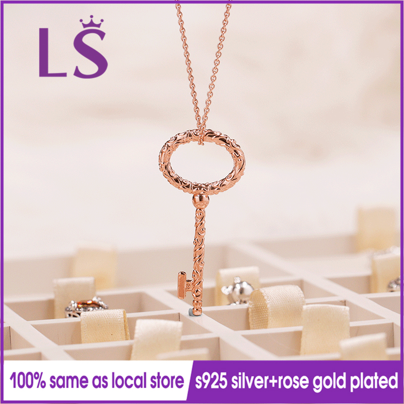 LS 2018 hiver nouvelle Collection collier de clés en or Rose Regal femmes Original bijoux fins femmes cadeaux de noël.