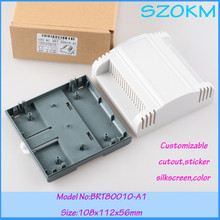 3 pcs/lot free shipping abs din rail enclosures electronics DIY plc industrial box 108x112x56 mm