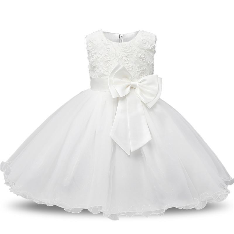 Princess Girls Tutu Dresses New Summer Children Wedding Birthday Party Prom Clothing Sleeveless Flower Kids Dresses for Girls