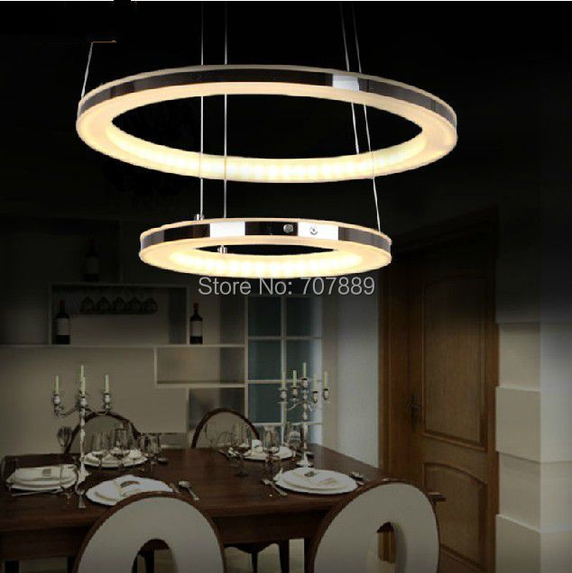 Buy modern led chandelier acrylic pendant for Dining room 3 pendant lights