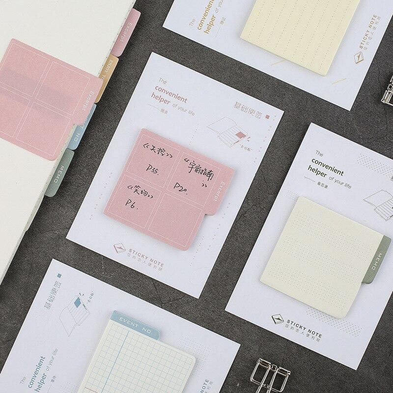 1 Sätze/1 Los Kreative Grundlegende Hinweis Memo Pad Sticky Notes Escolar Papelaria Schule Versorgung Lesezeichen Notizblock Label Ausgezeichnete (In) QualitäT