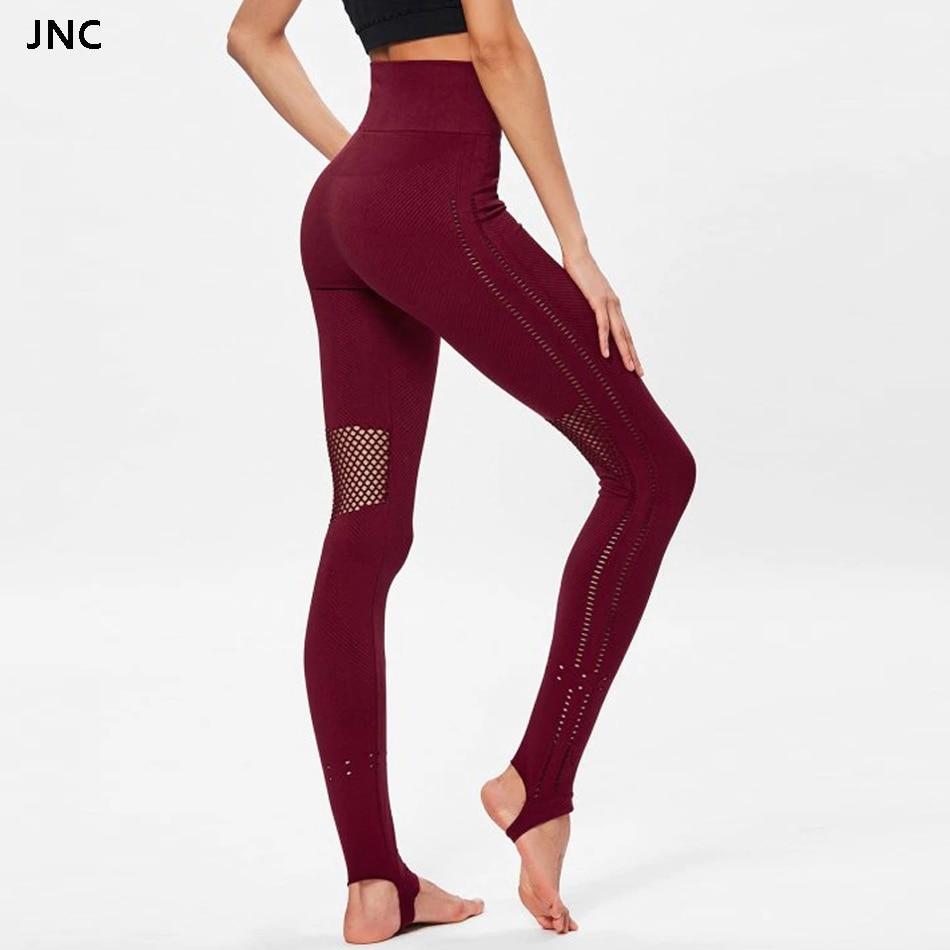 Aliexpress.com : Buy Stirrup Mesh Yoga Pants High Waist