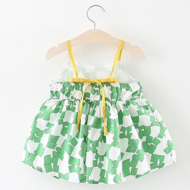 Melario Baby Dresses 2018 Summer Newborn Baby Girl Slip Dress Cute Bow Sleeveless Strap Children Girl Clothing Princess Dress