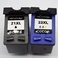 2 x Cartuchos De Tinta para HP 21 22 XL HP21 HP22 HP21XL J3650 OfficeJet 5610xi PhotoSmart 5610 5610 v 1410xi PSC 1408 1410 1410 v 1415