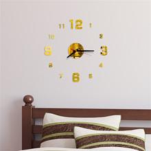 Ściany w kształcie zegara numery Diy 3d dekoracyjne naklejki ścienne wystrój domu zegar salon lustro do dekoracji domu naklejki ścienne do domu tanie tanio ISHOWTIENDA Nowoczesne Clock circular Akrylowe 40cm Pojedyncze twarzy 40mm Cyfrowy 12mm blachy Streszczenie Other Oddziela