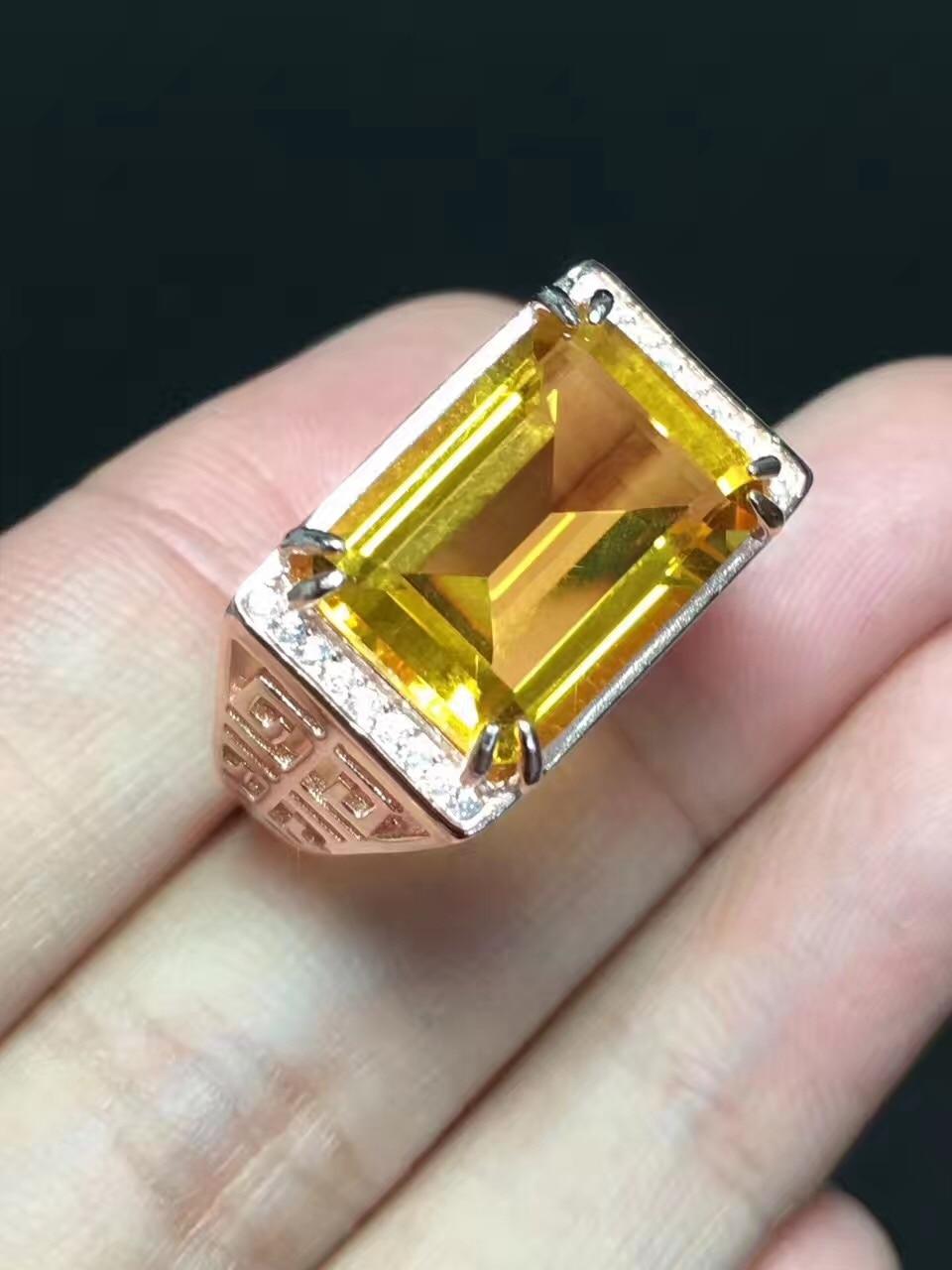 Men Ring Citrinel ring Natural real citrine 925 sterling silver 10*14mm big gemstone Fine jewelry Men Ring Citrinel ring Natural real citrine 925 sterling silver 10*14mm big gemstone Fine jewelry