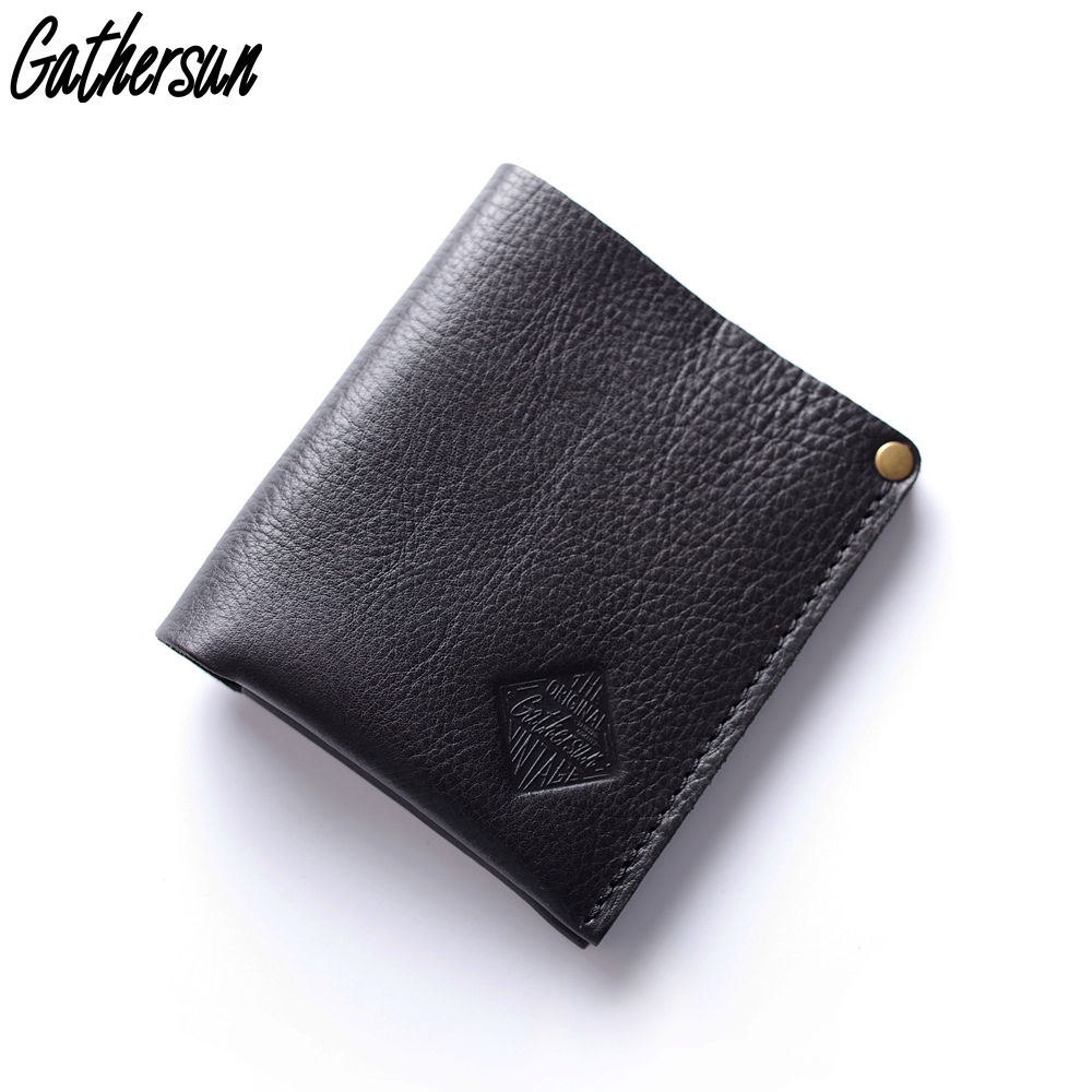 Gathersun Small Wallet Mens Bi fold Full Grain Leather Credit Card Holder  Slim Money Bag Minimalist Wallets Men Genuine Leather -in Wallets from  Luggage ... e7511e8f6bbbe
