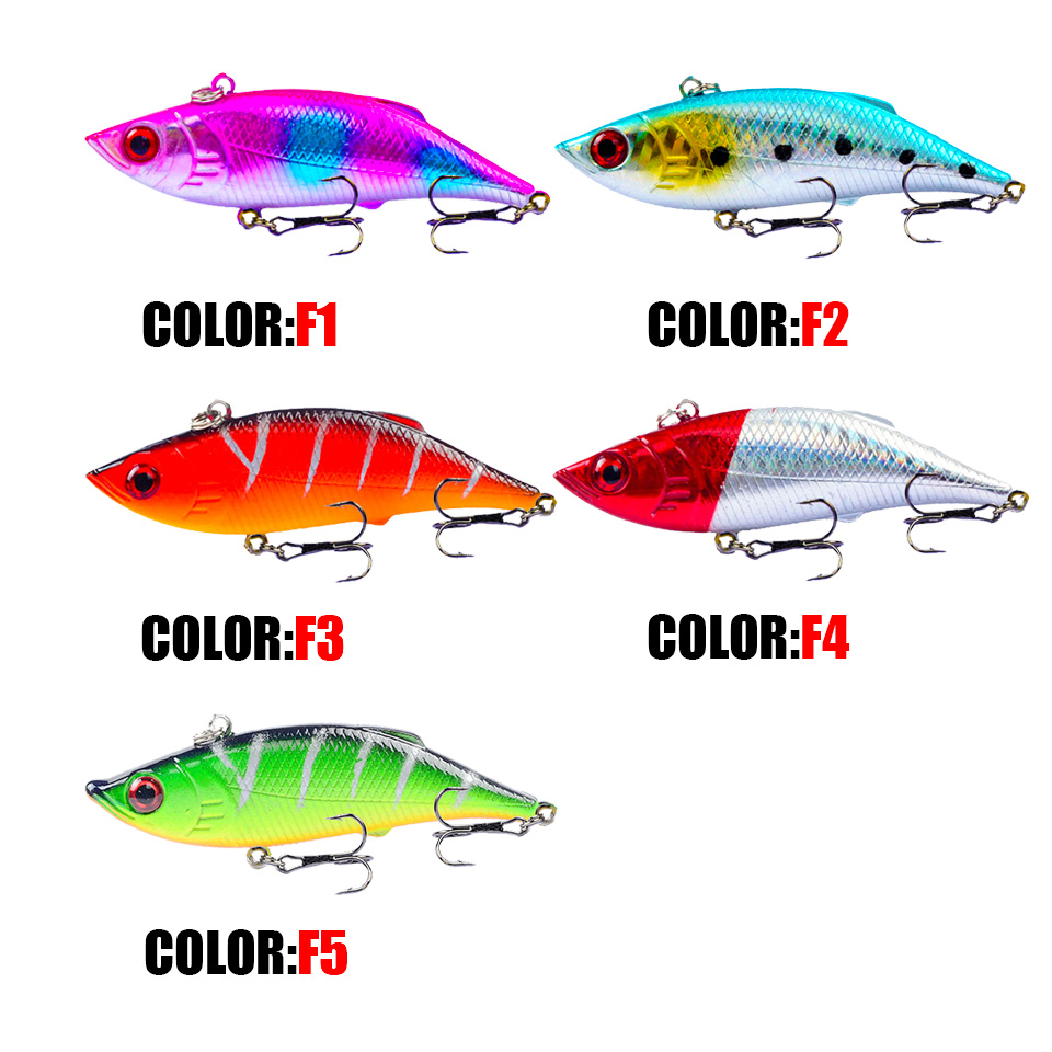 Image 5 - 7.5cm/10.5g Fishing Lure Vibration Swing Sink Hard Bait Long Shot Plastic Wobbler Crankbait Rattlin VIB Artificial Lures-in Fishing Lures from Sports & Entertainment